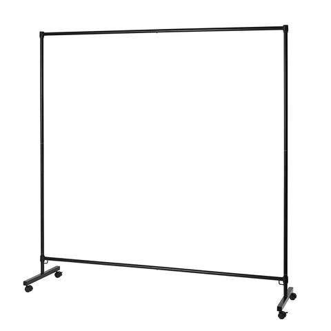 Don't Look At Me - Simplified Privacy Room Divider - Black Frame