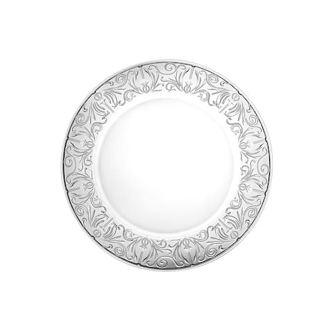 """Majestic Gifts Inc. Set/2 Glass Textured Charger Plates-12.5"""" Diameter"""