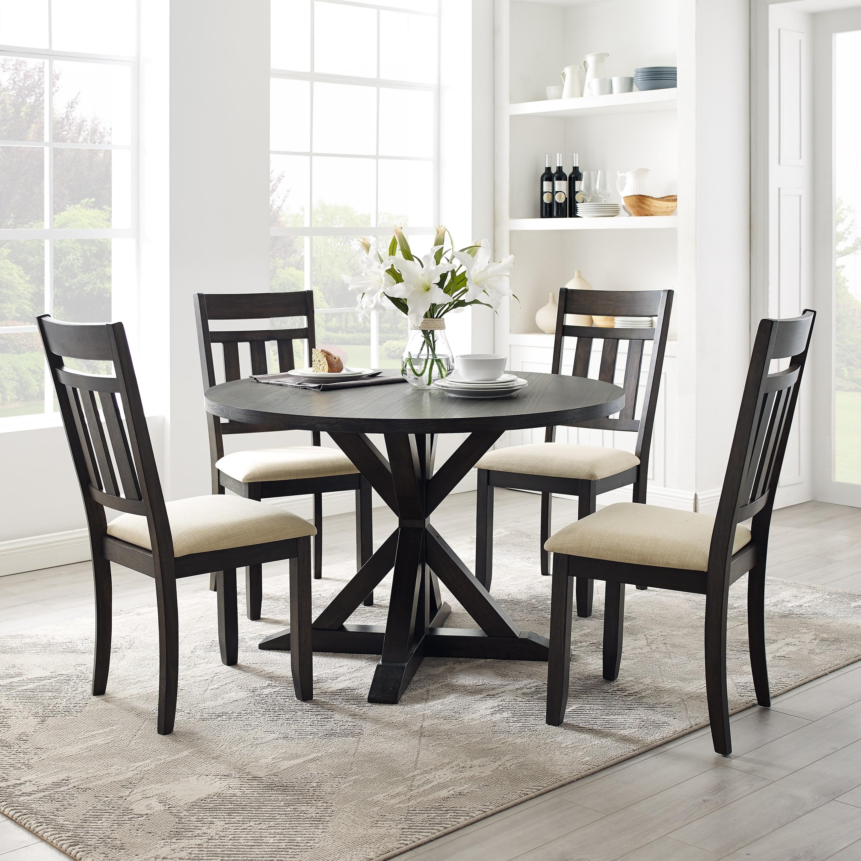 Hayden 5pc Round Dining Set Slate