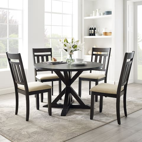 Hayden 5Pc Round Dining Set Slate Table, 4 Chairs