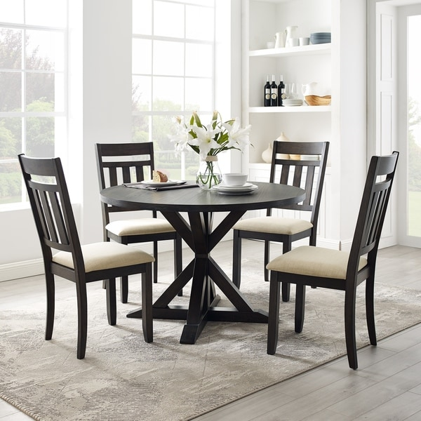Hayden 5Pc Round Dining Set Slate Table, 4 Chairs. Opens flyout.