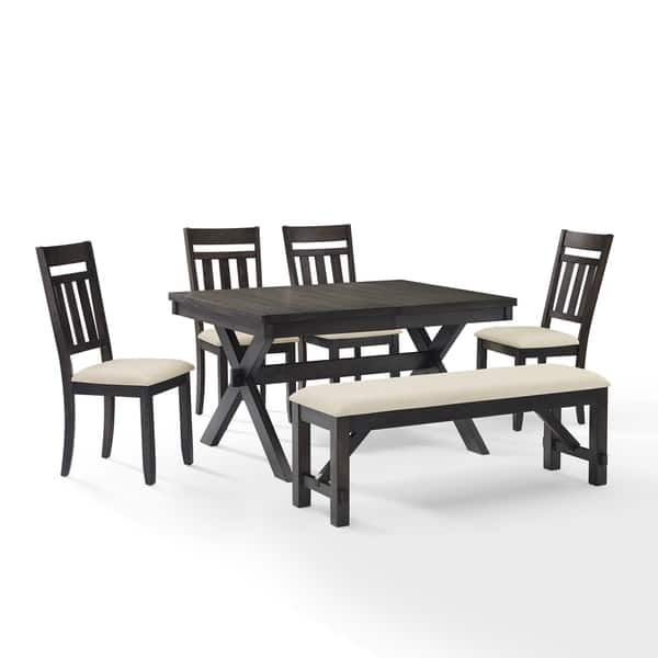 Miraculous Shop Hayden 6Pc Dining Set Slate Table 4 Chairs Bench Ibusinesslaw Wood Chair Design Ideas Ibusinesslaworg
