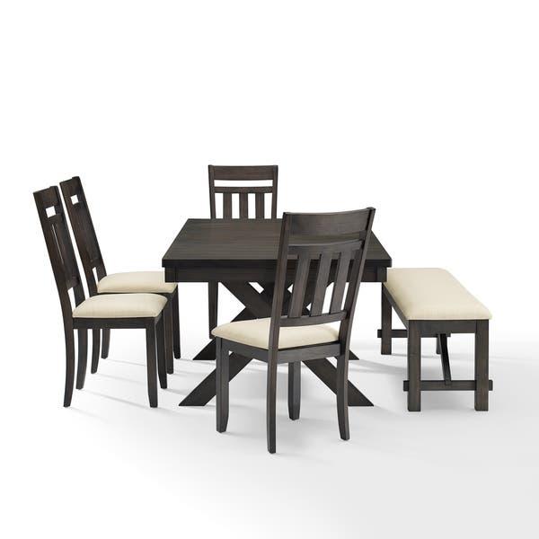 Strange Shop Hayden 6Pc Dining Set Slate Table 4 Chairs Bench Ibusinesslaw Wood Chair Design Ideas Ibusinesslaworg