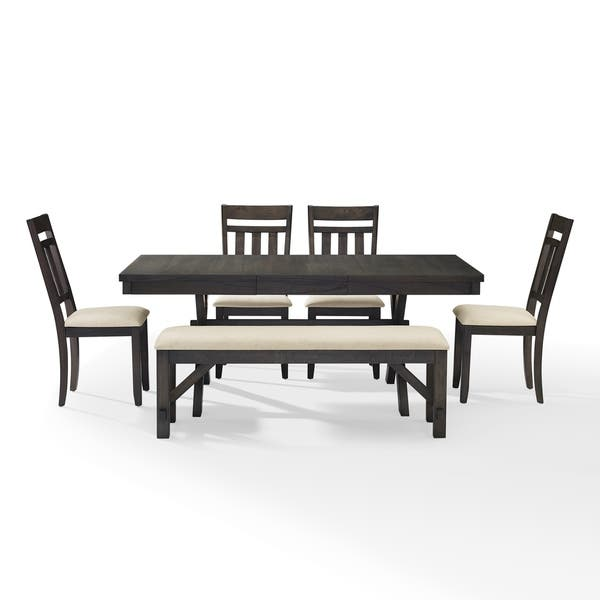 Incredible Shop Hayden 6Pc Dining Set Slate Table 4 Chairs Bench Ibusinesslaw Wood Chair Design Ideas Ibusinesslaworg