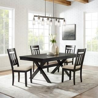 The Gray Barn Rain Hut Slate Table 5-piece Dining Set