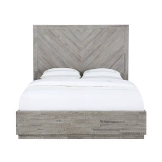 The Gray Barn Daybreak King-size Solid Wood Platform Bed in Rustic Latte