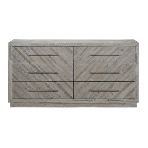 The Gray Barn Daybreak Solid Wood 6-drawer Dresser in Rustic Latte