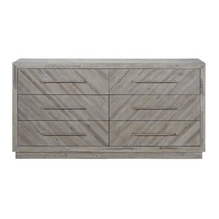 The Gray Barn Daybreak Solid Wood 6-drawer Dresser in Rustic Latte
