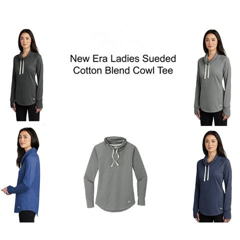 New Era Ladies Sueded Cotton Blend Drawstring Cowl Tee