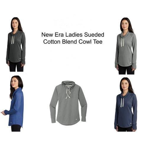 New Era Ladies Sueded Cotton Blend Drawstring Cowl Tee