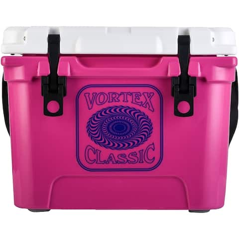 Vortex Classic Series 20-Quart Rotational-Molded Cooler in Pink