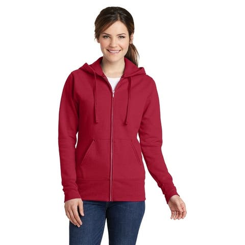 One Country United Ladies Fleece Full Zip Hooded Sweatshirt