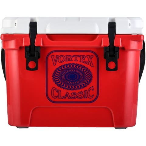 Vortex Classic Series 20-Quart Rotational-Molded Cooler in Red