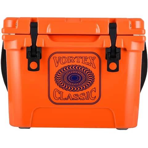 Vortex Classic Series 20-Quart Rotational-Molded Cooler in Blaze Orange