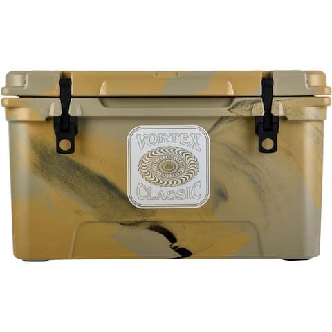 Vortex Classic Series 65-Quart Rotational-Molded Cooler in Tan