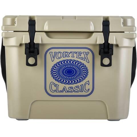 Vortex Classic Series 20-Quart Rotational-Molded Cooler in Tan