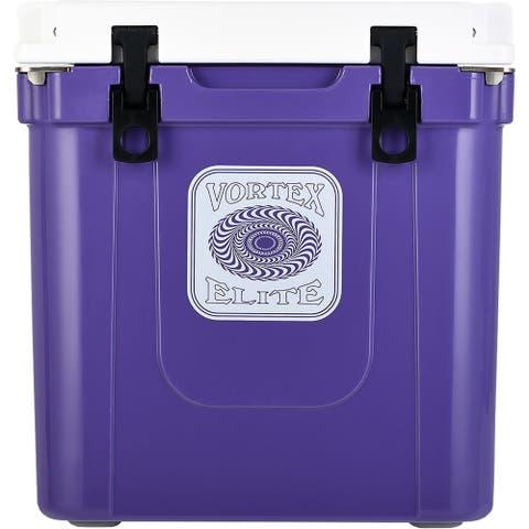 Vortex Elite Series 33-Quart Rotational-Molded Customizable Cooler System in Ultra Violet