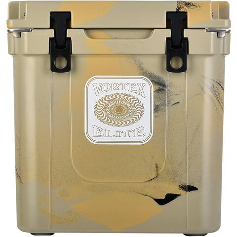Vortex Elite Series 33-Quart Rotational-Molded Customizable Cooler System in Tan - N/A