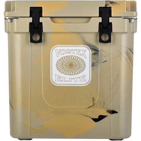 Vortex Elite Series 33-Quart Rotational-Molded Customizable Cooler System in Tan
