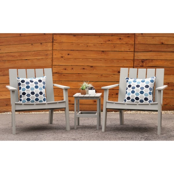 Hawkesbury 3-piece Recycled Plastic Modern Lounge Chair with Side Table Set by Havenside Home. Opens flyout.