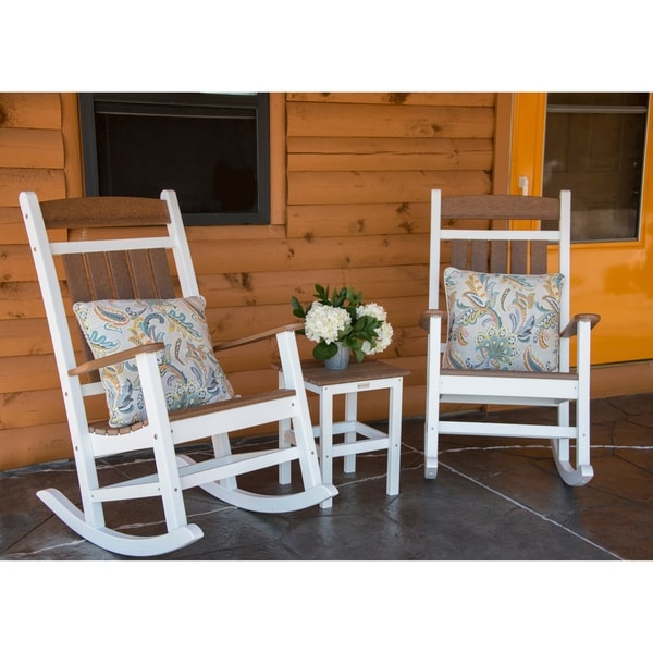Hawkesbury 3-piece Recycled Plastic Rocking Chair with Side Table Set by Havenside Home. Opens flyout.