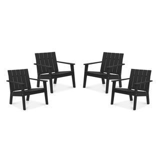Link to Hawkesbury 4-piece Recycled Plastic Modern Lounge Chair Set by Havenside Home Similar Items in Outdoor Sofas, Chairs & Sectionals