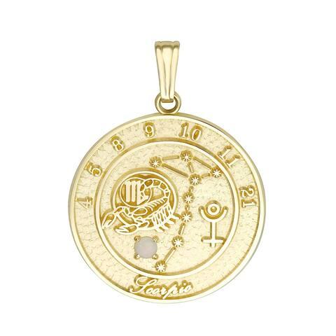 Forever Last 10 kt Scorpio Talisman Zodiac pendant
