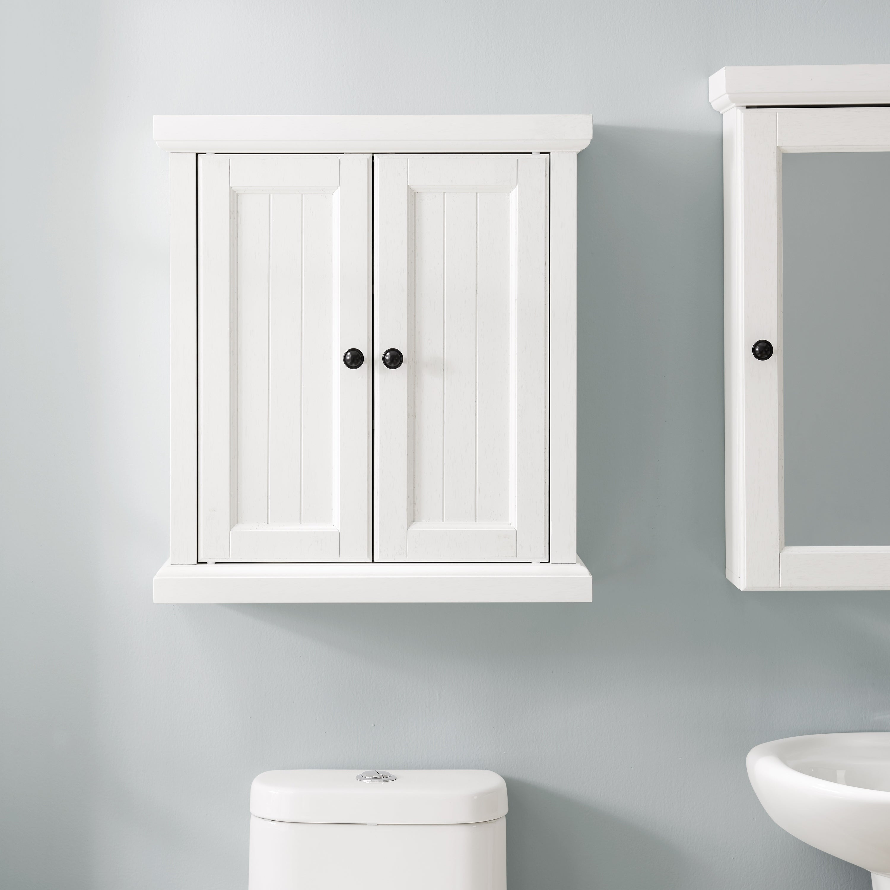 Seaside Wall Cabinet Distressed White Overstock 29380856