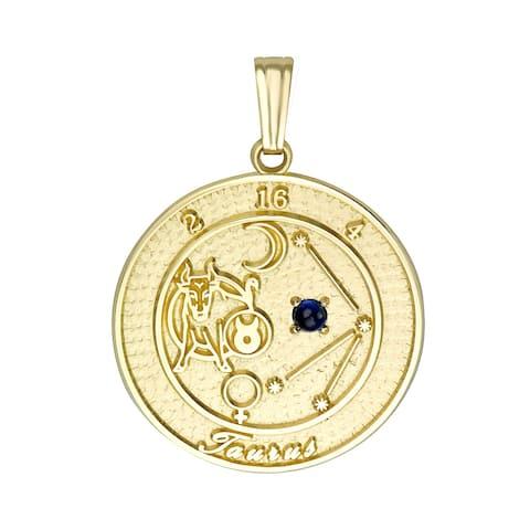 Forever Last 10 kt Taurus Talisman Zodiac pendant