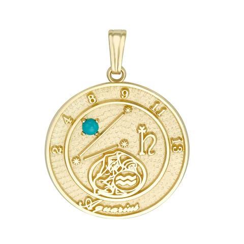Forever Last 10 kt Aquarius Talisman Zodiac pendant