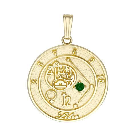 Forever Last 10 kt Libra Talisman Zodiac pendant