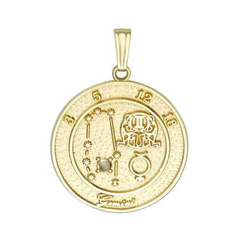 Forever Last 10 kt Gemini Talisman Zodiac pendant