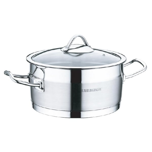 "Sirma Stainless Steel Deep Pot , 10"". Opens flyout."