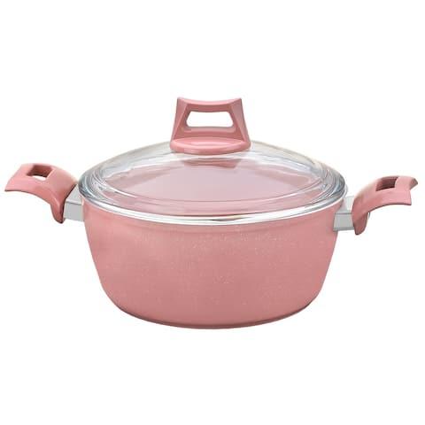 """Fiesta 9"""" Granite Deep Pot, Pink"""