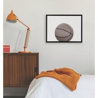 DesignOvation Sylvie Horizontal Basketball PortraitFramed Canvas