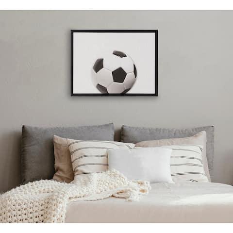 DesignOvation Sylvie Horizontal Soccer Ball PortraitFramed Canvas