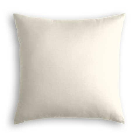 Off White Linen Throw Pillow