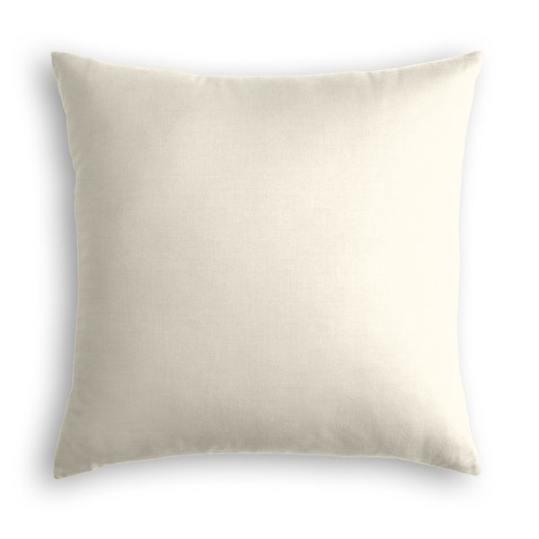 Off White Linen Throw Pillow. Opens flyout.