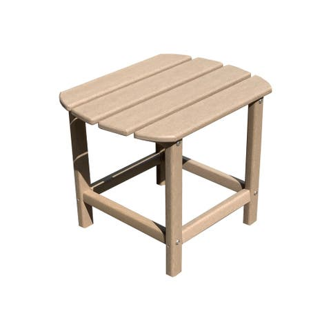"""Corona 18"""" Recycled Plastic Outdoor Side Table"""