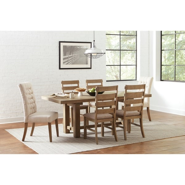 Monique Line and Vineyard Oak 7-piece Dining Set