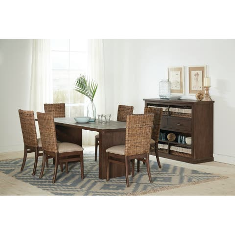 Harrisford Light Taupe and Sand Blasted Whiskey 7-piece Dining Set