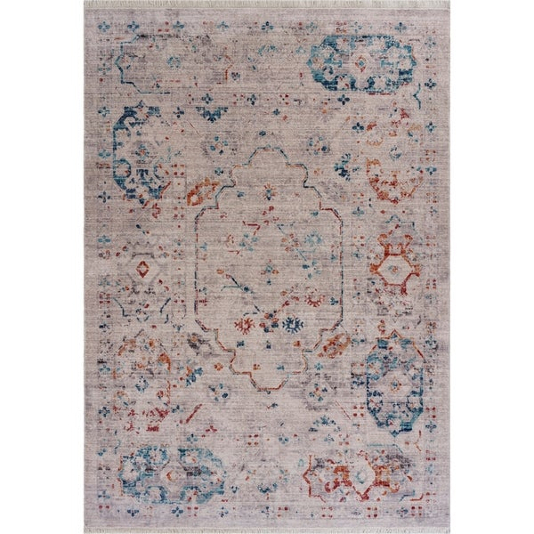 """Charming Traditional Distressed Area Rug 9'10"""" x 13'0"""" - 9'10"""" x 13'0"""""""