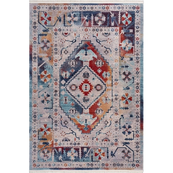 "Detailed Multicolored Traditional Area Rug 9'10"" x 13'0"" - 9'10"" x 13'0"""