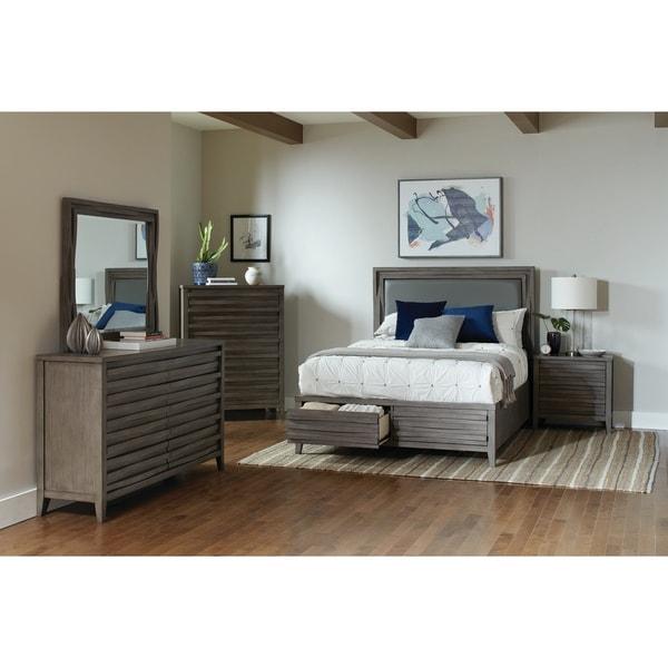 Tatum Dark Taupe 2-piece Storage Bedroom Set with Nightstand