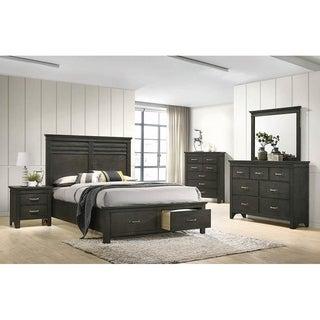 Breem Bark Wood 2-piece Storage Bedroom Set with Nightstand