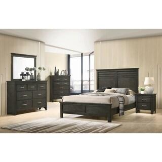 Breem Bark Wood 2-piece Panel Bedroom Set with Nightstand