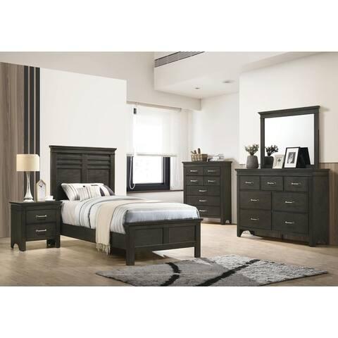 Breem Bark Wood 3-piece Panel Bedroom Set with Dresser