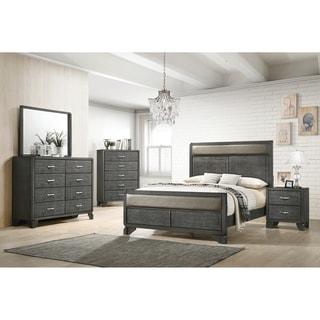 Baylee Caviar 5-piece Panel Bedroom Set with 2 Nightstands