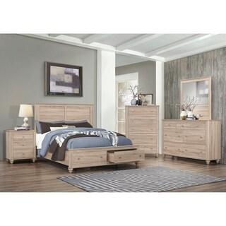 Link to Parella Natural Oak 4-piece Storage Bedroom Set with 2 Nightstands Similar Items in Bedroom Furniture