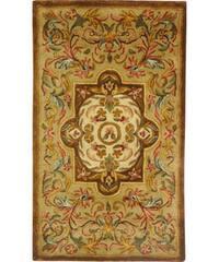 Safavieh Handmade Classic Royal Beige/ Olive Wool Rug - 2' x 3'